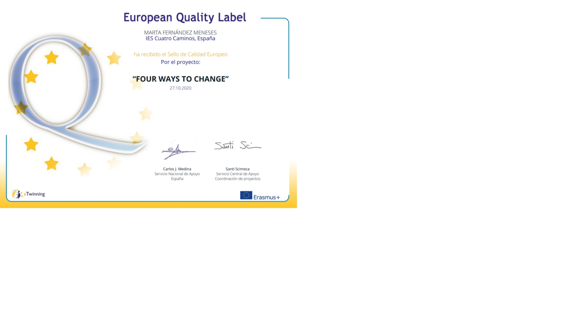 EUROPEAN QUALITY LABEL Four ways to change